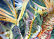 God Mixed Media Originals - Wild Palm by Mindy Newman