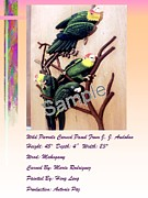 Carved Reliefs Originals - WILD PARROTS is offering for rent by Mario Rodriguez And Heng Leng
