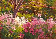 Phlox Painting Framed Prints - Wild Phlox 1 Framed Print by Keith Burgess