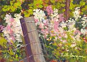 Phlox Painting Prints - Wild Phlox 2 Print by Keith Burgess