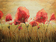 Poppies Field Paintings - Wild Poppies I by Christopher Clark
