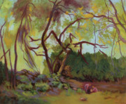 Sacred Art Paintings - Wild Rabbit Woods by Bruce Zboray