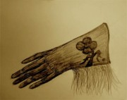 Gloves Drawings Prints - Wild Rags etc Print by Susan Gahr