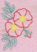 Rose Tapestries - Textiles - Wild Rose by Aina Taurina