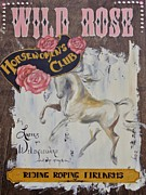 Roping Horse Paintings - Wild Rose Horsewomens Club by Dina Dargo