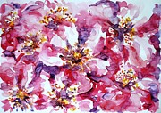 Most Popular Paintings - Wild rose by Zaira Dzhaubaeva