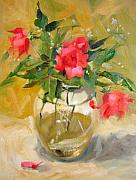 Margaret Paintings - Wild Roses by Margaret Aycock
