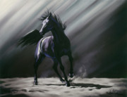 Horse Pastels Posters - Wild Spirit Poster by Kim McElroy