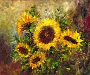 Sunflowers Paintings - Wild Sun by Laura Swink