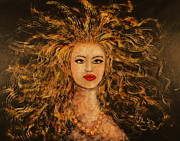 Expressionsim Paintings - Wild Tigress by Natalie Holland