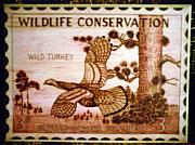 Reproduction Pyrography Originals - Wild Turkey by Mark Padgett