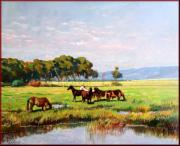 Boats In Water Paintings - Wild Tuscany by Vaccaro