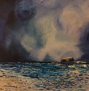 North Sea Paintings - Wild Water by Margaret Denholm