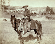 Mustache Photo Prints - Wild West. The Cow Boy. Sturgis, Dakota Print by Everett