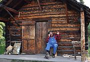 Overalls Art - Wilderness Cabin Alaska by Jennifer Crites