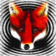 Fox Digital Art - Wilderness Fox by Madeline M Allen