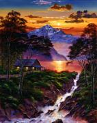 Pathway Paintings - Wilderness Spirit by David Lloyd Glover