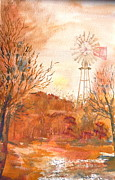 Prescott Paintings - Wilderness Windmill by Sharon Mick