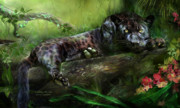 Predator Art Mixed Media Prints - WildEyes - Panther Print by Carol Cavalaris