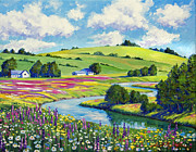 Recommended Prints - Wildflower Fields Print by David Lloyd Glover