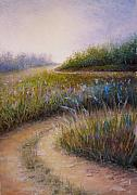 Lanscape Paintings - Wildflower Road by Susan Jenkins