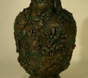 Pear Reliefs - Wildflower Vase Detail by Dawn Senior-Trask