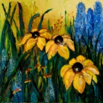 Vibrant Floral Art - Wildflowers by Larry Martin