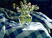 Cloth Painting Posters - Wildflowers Poster by Tom Hedderich