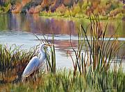 Egret Paintings - Wildlife Refuge by Sue Zimmermann