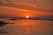 Jersey Shore Digital Art Posters - Wildwood Crest Sunrise Poster by Bill Cannon