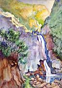 Falls Paintings - Wildwood falls by Bob Duncan