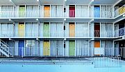 Wildwood New Jersey  Motel Print by Carol M Highsmith