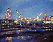 Pier Pastels - Wildwood Nights by Karen Margulis