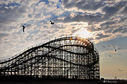 Pier Digital Art - Wildwood Roller Coaster by Bill Cannon
