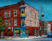 Montreal Neighborhoods Paintings - Wilenskys Light Lunch Plateau Montreal by Carole Spandau