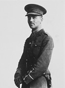 1916 Photo Framed Prints - Wilfred Owen (1893-1918) Framed Print by Granger