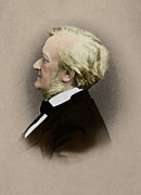 Harmonies Framed Prints - Wilhelm Richard Wagner, German Composer Framed Print by Photo Researchers