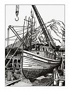 Fishing Drawings Originals - Will Fish Again Another Day by Jack Pumphrey