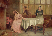Genre Paintings - Will He Come? by George Goodwin Kilburn