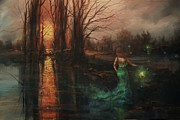 Haunted Painting Posters - Will-o-the-wisp Poster by Tom Shropshire