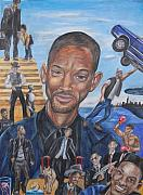 Will Drawings - Will Smith by Michael Cook