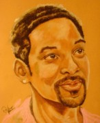 Actor Pastels Posters - Will Smith Poster by Sandra Valentini