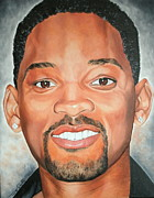 Portraits By Timothe Framed Prints - Will Smith Framed Print by Timothe Winstead