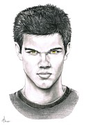 (murphy Elliott) Drawings - Will Taylor Lautner as Jacob by Murphy Elliott
