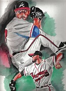 Baseball Art Painting Originals - Will Wagner by Torben Gray