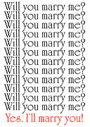 Question Mark Posters - Will You Marry Me Yes Ill Marry You Poster by Andee Photography