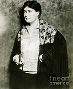 Pulitzer Framed Prints - Willa Cather, American Author Framed Print by Photo Researchers
