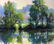 Morning Pastels - Willeo Park Misty by Marsha Savage