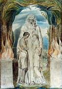 Adam Framed Prints - William Blake: Adam & Eve Framed Print by Granger