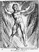William Blake Art - William Blake: Fire, 1793 by Granger